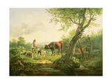 Landscape with a Shepherd, 1826 Giclee Print by Friedrich Gauermann