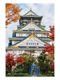 Osaka Castle in Autumn Japan Posters