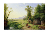 The Grove of Egeria Giclee Print by Franz Ludwig Catel