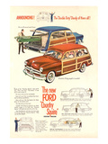 The New Ford Country Squire Affiches
