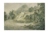 View Near Halifax. a Pathway with Cottage on a Slope Giclee Print by James Bourne
