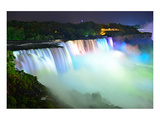 Niagara Falls Lit at Night  Prints
