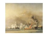 King Louis-Philippe Escorting Queen Victoria Aboard the Royal Yacht Victoria and Albert at Treport Giclee Print by Louis Eugene Gabriel Isabey