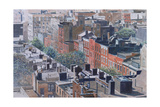 Rooftops, Greenwich Village, West 13th Street, 1986 Giclee Print by Anthony Butera