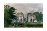 Roche Abbey, View from the West, from 'The Monastic Ruins of Yorkshire', 1842 Giclee Print by William Richardson