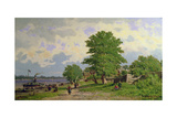 A View of the River Volga Giclee Print by Piotr Petrovitch Weretshchagin