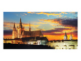 Prague Castle & Church at Dusk Prints