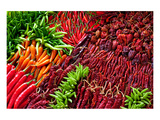 Ripe Red Thai Peppers Display Prints