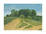 A Track across the Fields, C.1821 Giclee Print by Wilhelm Alexander Kobell