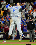 Mike Moustakas & Eric Hosmer celebrate winning Game 5 of the 2015 World Series Photo