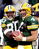 Brett Favre & Donald Driver 2004 Action Photo