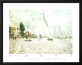 Claude Monet Regatta at Argenteuil Art Print Poster Prints