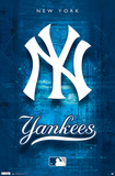 New York Yankees- Blueprint Logo Prints