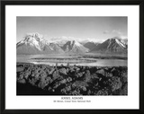 Ansel Adams Mt Moran Grand Teton Art Print Poster Poster