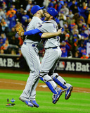 Wade Davis & Drew Butera celebrate winning Game 5 of the 2015 World Series Photo