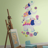 Waverly Pink & Yellow Elephant Wall Decal