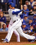 Alcides Escobar RBI Single Game 2 of the 2015 World Series Photo