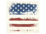 Vintage American Flag Detail Prints