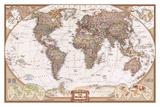 The World Map Kunstdruck