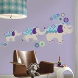 Waverly Teal & Purple Elephant Wall Decal