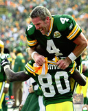 Brett Favre & Donald Driver 2007 Action Photo