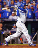 Mike Moustakas RBI Single Game 2 of the 2015 World Series Photo