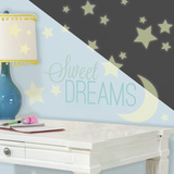 Sweet Dreams Glow in the Dark Wall Decal