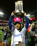 Jarrod Dyson with the World Series Championship Trophy Game 5 of the 2015 World Series Photo
