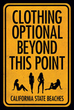 California Beaches - Clothing Optional Poster