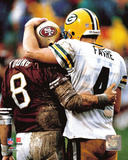 Steve Young & Brett Favre 1998 Photo