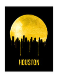 Houston Skyline Yellow Posters