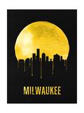 Milwaukee Skyline Yellow Print