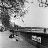 Pavement Artist, Circa 1945 Photographic Print by  Staff