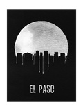 El Paso Skyline Black Prints