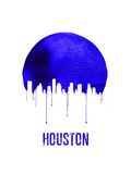 Houston Skyline Blue Art