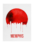 Memphis Skyline Red Prints
