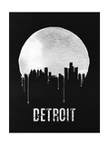 Detroit Skyline Black Posters