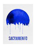 Sacramento Skyline Blue Poster