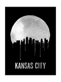 Kansas City Skyline Black Prints