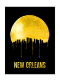 New Orleans Skyline Yellow Posters