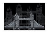 London Bridge Night Posters by Cristian Mielu