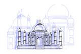 Taj Mahal Print by Cristian Mielu
