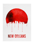 New Orleans Skyline Red Prints