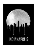 Indianapolis Skyline Black Prints