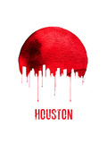 Houston Skyline Red Posters