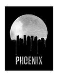 Phoenix Skyline Black Posters