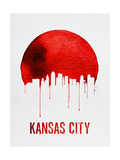 Kansas City Skyline Red Print