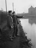 The Manure lock basin at Wolverhampton, 1950 Photographic Print by  Carter