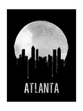 Atlanta Skyline Black Posters