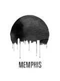 Memphis Skyline White Art